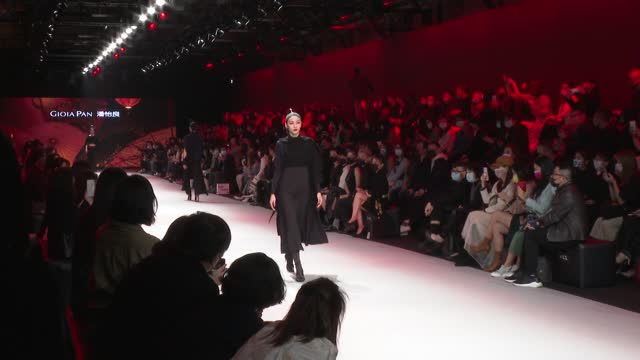 model showcases designs by gioia on the runway as a part of taipei fashion week aw21 on march 12, 2021 in taipei, taiwan. - taipei stock videos & royalty-free footage