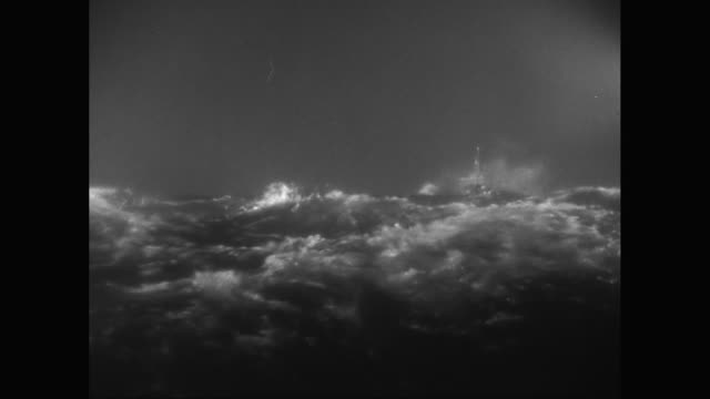 ws  model steam ship sailing in rough, stormy sea with high waves / united states - sink stock videos and b-roll footage