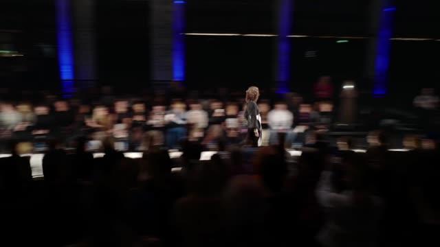 berlin germany january 15 a model walks the runway at the rebekka ruetz show during berlin fashion week autumn/winter 2020 at kraftwerk mitte on... - gif stock videos and b-roll footage