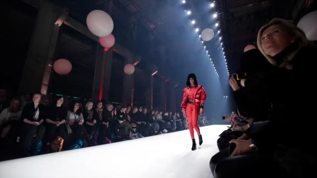 berlin germany january 15 a model walks the runway at the sportalm show during berlin fashion week autumn/winter 2020 at kraftwerk mitte on january... - gif stock videos and b-roll footage