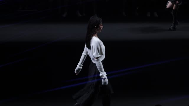 model walks the runway during the la pargay collection show by chinese designer rui lai on day six of china fashion week a/w 2021/2022 at 751d.park... - fashion collection stock videos & royalty-free footage
