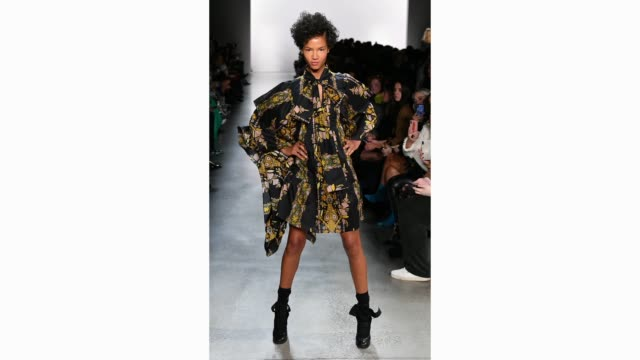 model walks the runway for the cynthia rowley fashion show during february 2020 - new york fashion week: the shows at gallery i at spring studios on... - runway stock videos & royalty-free footage