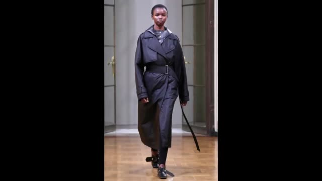 A model walks the runway for Victoria Beckham during New York Fashion Week at BurdenKahn mansion on February 11 2018 in New York City