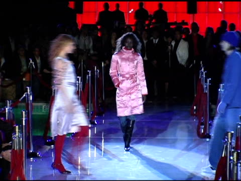 model wearing hugo boss 2005 at the bash and celebration of hugo boss' fall winter 2005 collections at the beverly hilton in beverly hills,... - hugo boss stock videos & royalty-free footage