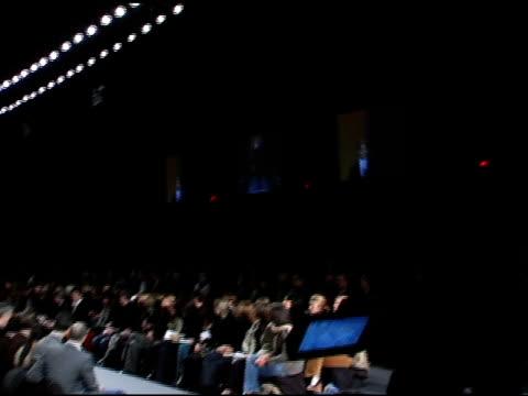 model wearing kenneth cole fall 2006 at the olympus fashion week fall 2006 kenneth cole at the tent at bryant park in new york, new york on february... - オリンパスファッションウィーク点の映像素材/bロール