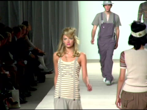 Model wearing Marc by Marc Jacobs Spring 2007 at the Olympus Fashion Week Spring 2007 Marc by Marc Jacobs Runway at New York State Armory in New York...