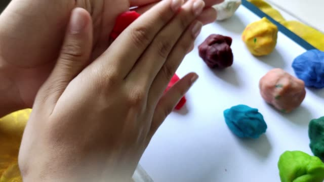 modeling dough - clay stock videos & royalty-free footage