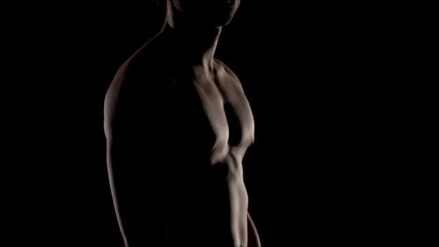 vídeos de stock e filmes b-roll de modello torso nudo - homens pelados