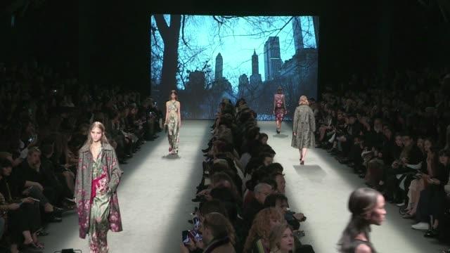 Models and designer Alberta Ferretti on the runway for the Alberta Ferretti Fashion Show in Milan on February 24 2016 in Milan Italy