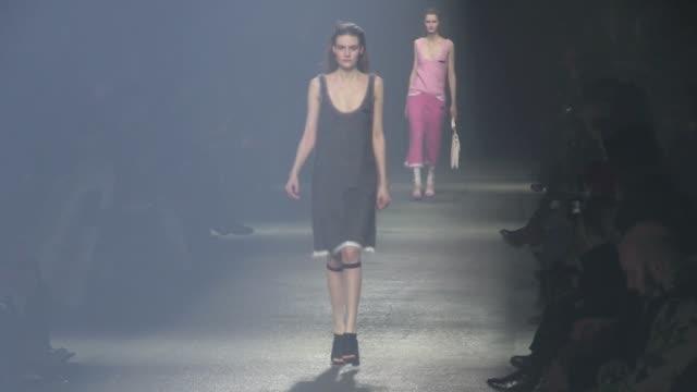 Models and Designer Geraldo da Conceicao on the runway for the Sonia Rykiel fashion show during the Parisian Fashion Week Runway at Sonia Rykiel...
