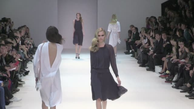 Models and designer Marcel Morongiu on the runway for Guy Laroche fashion show Ready to Wear SpringSummer 2013 collections Marcel Morongiu for Guy...
