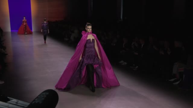 Models and designer Naeem Khan on the runway for the Naeem Khan Ready to Wear Fall Winter 2018 Fashion Show in New York City New York City USA on...