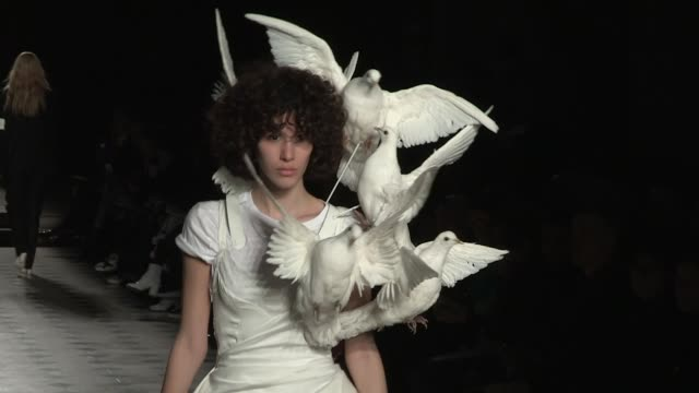 models and designer on the runway for the af vandevorst couture spring summer 2018 fashion show in paris thursday january 25 2018 paris france - thursday stock videos and b-roll footage