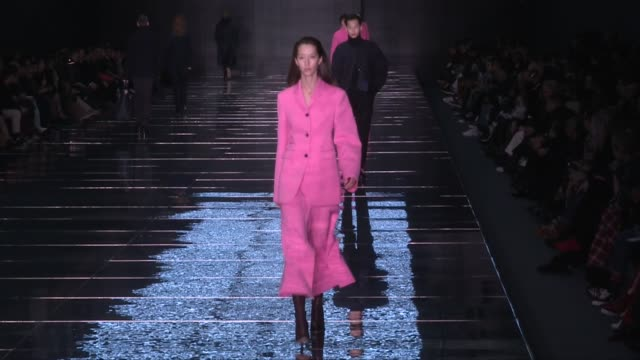 Models and designer on the runway for the Boss Ready to Wear Fall Winter 2019 Fashion Show in New York City Wednesday 13 February 2019 New York City...