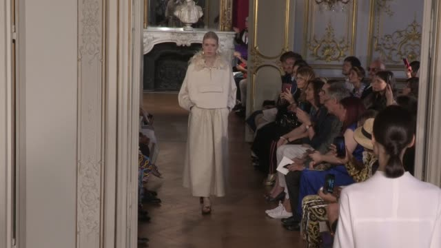 models and designer on the runway for the christophe josse fall winter 2020 haute couture fashion show in paris paris france on sunday june 30 2019 - fashion show stock videos & royalty-free footage