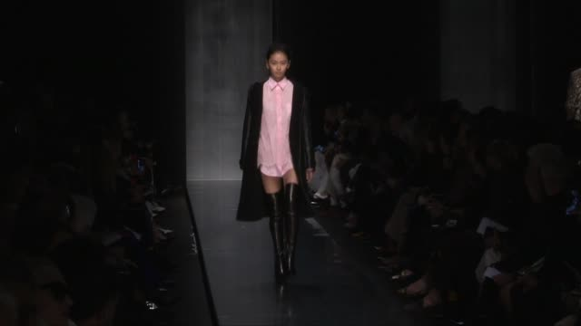 models and designer on the runway for the ermanno scervino ready to wear fall winter 2019 fashion show in milan. saturday 23, february 2019. milan,... - milan fashion week stock videos & royalty-free footage