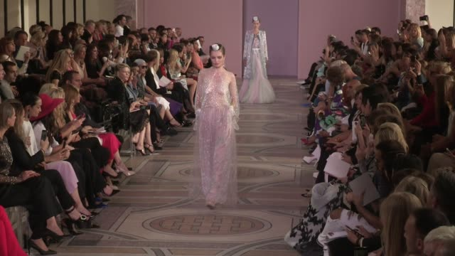 models and designer on the runway for the giorgio armani prive fall winter 2020 haute couture fashion show in paris paris, france on tuesday july 2,... - paris fashion week stock videos & royalty-free footage