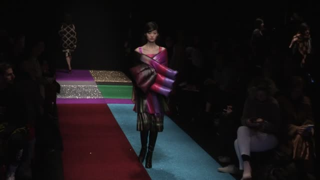 models and designer on the runway for the marco de vincenzo ready to wear fall winter 2018 fashion show in milan milan italy on friday february 23... - marco marco designer label stock videos and b-roll footage