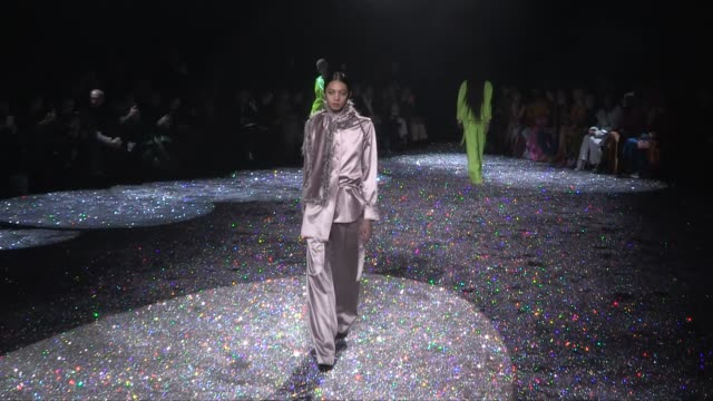 models and designer on the runway for the sies marjan ready to wear fall winter 2019 fashion show in new york city sunday 10, february 2019. new york... - new york fashion week stock videos & royalty-free footage