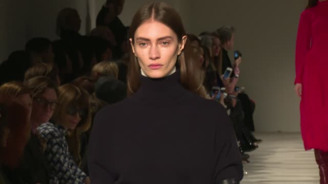 models and designer victoria beckham on the runway for the victoria beckham ready to wear fall winter 2017 fashion show in new york city on february... - fashion collection stock videos & royalty-free footage