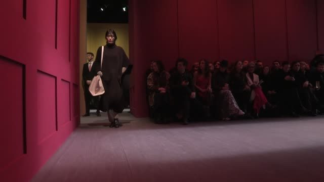 models and designers guillaume meilland and paul andrew on the runway for the salvatore ferragamo ready to wear fall winter 2018 fashion show in... - salvatore ferragamo stock videos & royalty-free footage