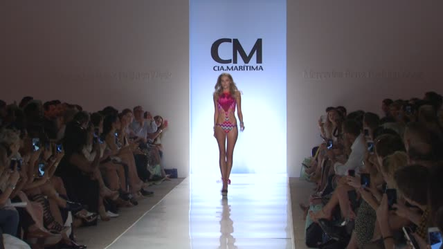 atmosphere models at cm ciamaritima mercedesbenz fashion week swim 2015 at cabana grande at the raleigh hotel on july 19 2014 in miami florida - grande stock videos and b-roll footage