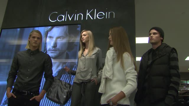 Models at the Macy's Celebrates 'The World of Calvin Klein' with Gabriel Aubry at Macy's Herald Square in New York New York on September 24 2007