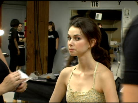 models backstage at the gen art and schick quattro for women present the 8th annual fresh faces in fashion show at barker hanger in santa monica... - バーカーハンガー点の映像素材/bロール