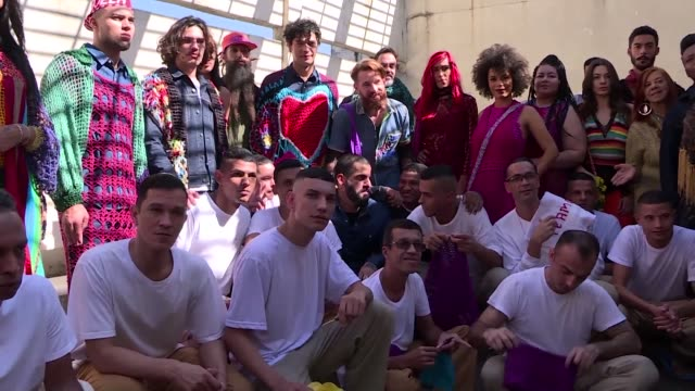 BRA: Inmates show off crochet creations in Brazil prison fashion show