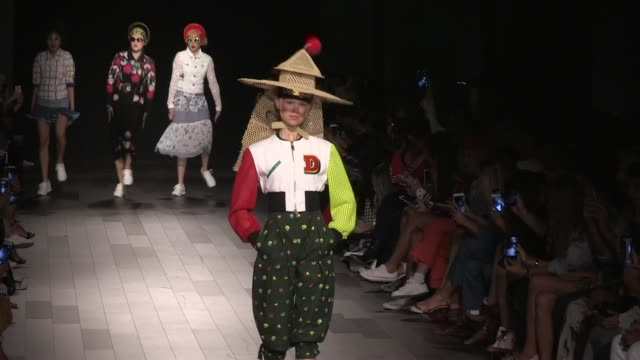 models on the runway for the desigual ready to wear spring summer 2018 fashion show in new york city thursday september 7th 2017 new york city usa - fashion show stock videos & royalty-free footage