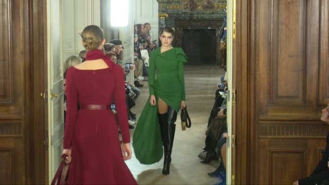 models on the runway for the elie saab ready to wear fall winter 2019 fashion show in paris saturday 2nd march 2019 paris france - catwalk stock videos & royalty-free footage
