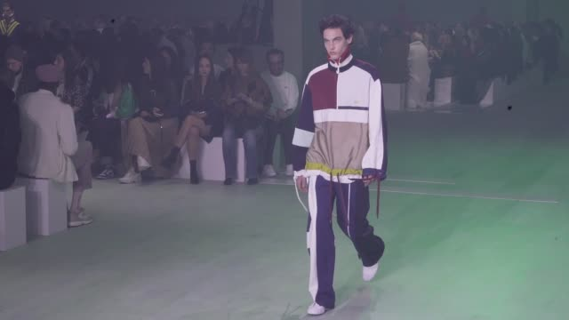 models on the runway for the lacoste ready to wear fall winter 2019 fashion show in paris tuesday 5th, march 2019. paris, france - paris fashion week stock videos & royalty-free footage
