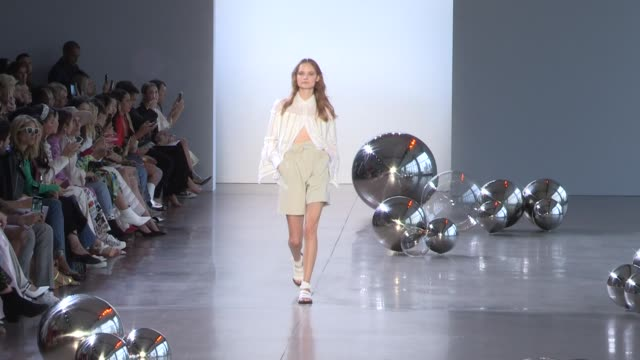 models on the runway for the noon by noor spring summer 2020 rtw fashion show in new york city new york city ny usa on tuesday september 10 2019 - new york fashion week stock videos & royalty-free footage
