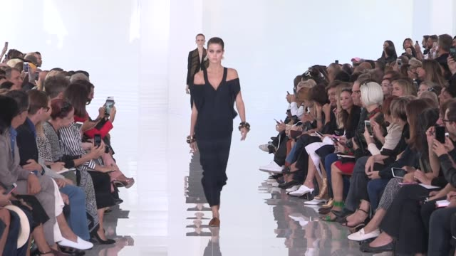 models on the runway for the roberto cavalli ready to wear spring summer 2018 fashion show in milan friday, september 22, 2017 - milan, italy - roberto cavalli designer label stock videos & royalty-free footage