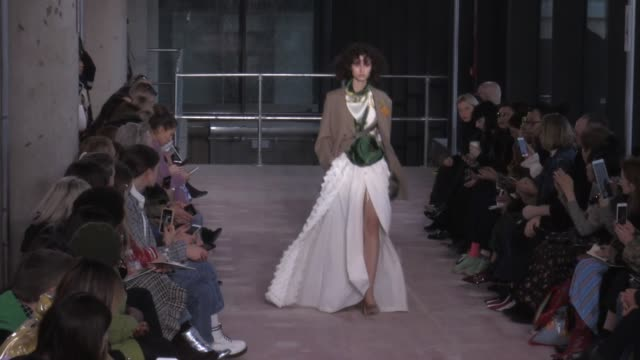models on the runway for the toga ready to wear fall winter 2018 fashion show in london london uk on saturday february 17th 2018 - toga stock videos and b-roll footage