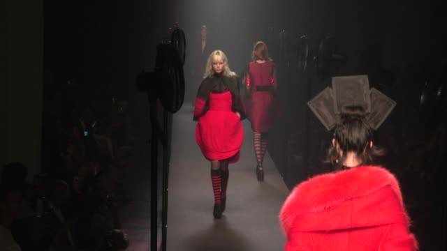 Models on the Runway of Jean Paul Gaultier Haute couture Fashion Show in Paris part 2