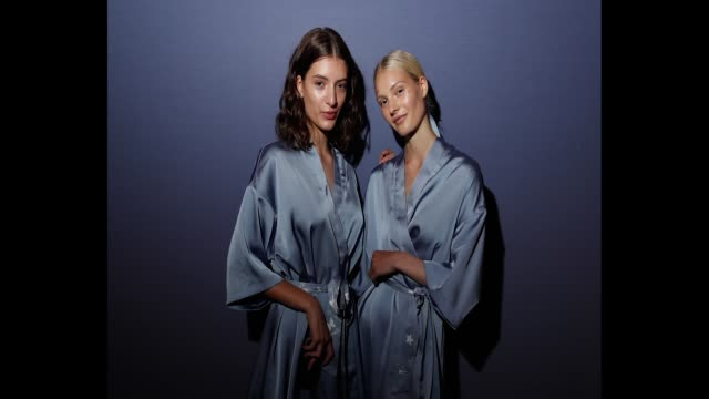 Models pose backstage ahead of the Leo Lin show at MercedesBenz Fashion Week Resort 19 Collections at Carriageworks on May 17 2018 in Sydney Australia