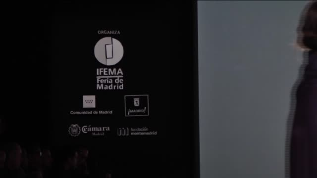 models present a creation from spanish label devota & lomba's fall/winter 2016-2017 collection during the mercedes-benz madrid fashion week at ifema... - fashion collection stock videos & royalty-free footage