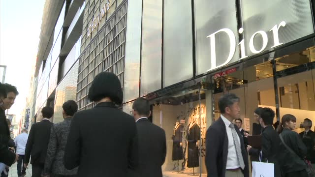 Models take to the runway for the Christian Dior spring summer 2017 haute couture collection to celebrate Dior's new shop in Tokyo's Ginza shopping...