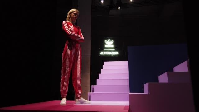 models walk at adidas originals by ji won choi - lfw february 2019 on february 16, 2019 in london, united kingdom. - adidas stock videos & royalty-free footage