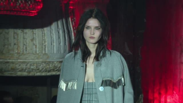 Models walk the runway at Alexander Wang February 2017 New York Fashion Week at TBD on February 11 2017 in New York City