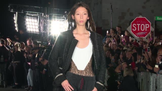 Models walk the runway at Alexander Wang New York Fashion Week Spring 2018 at TBD on September 9 2017 in New York City
