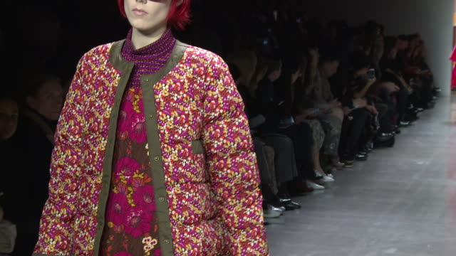 models walk the runway at anna sui runway february 2019 new york fashion week the shows at gallery i at spring studios on february 11 2019 in new... - catwalk stock videos & royalty-free footage