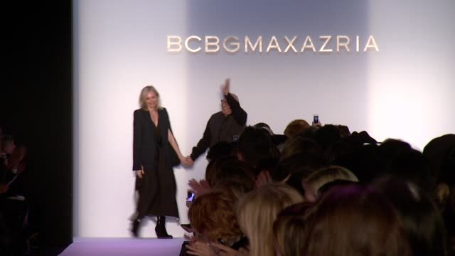 models walk the runway at bcbg max azria fall 2014 mercedesbenz fashion week at the theatre at lincoln center on in new york city - bcbg max azria stock videos & royalty-free footage