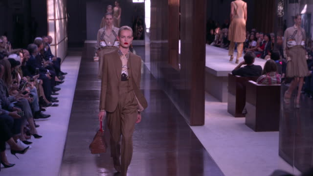 models walk the runway at burberry lfw september 2018 on september 17 2018 in london england - runway stock videos & royalty-free footage