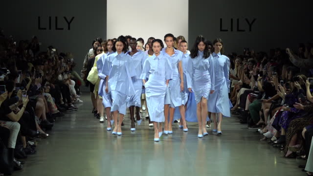 models walk the runway at china day: xu zhi - runway - september 2019 nyfw at gallery ii at spring studios on september 08, 2019 in new york city. - new york fashion week stock videos & royalty-free footage
