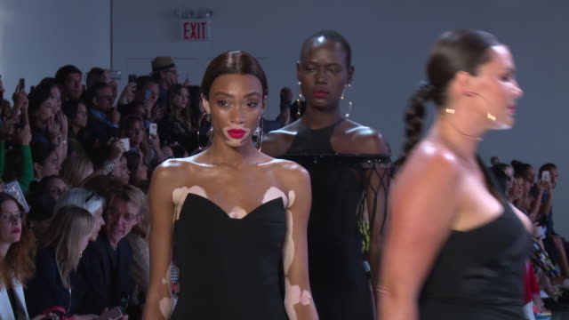 models walk the runway at cushnie et ochs - runway - september 2018 - new york fashion week: the shows at gallery i at spring studios on september... - catwalk stage stock videos & royalty-free footage