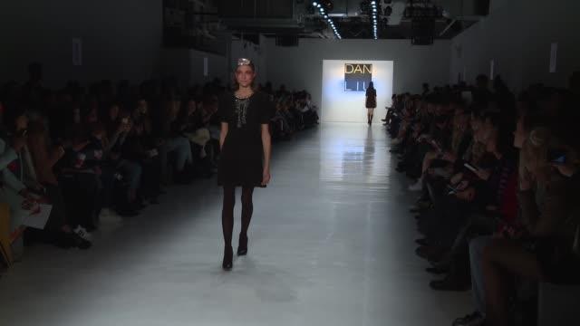Models walk the runway at Dan Liu February 2017 New York Fashion Week at Skylight Clarkson Sq on February 10 2017 in New York City