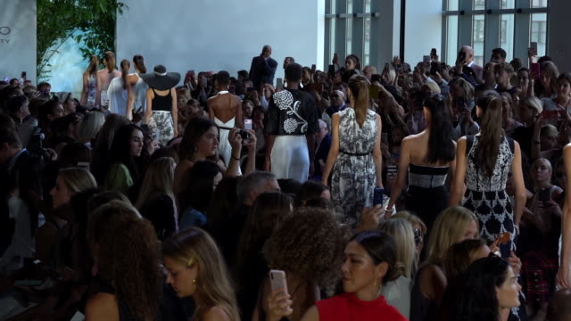 models walk the runway at dennis basso runway september 2019 nyfw at gallery i at spring studios on september 11 2019 in new york city - new york fashion week stock videos & royalty-free footage
