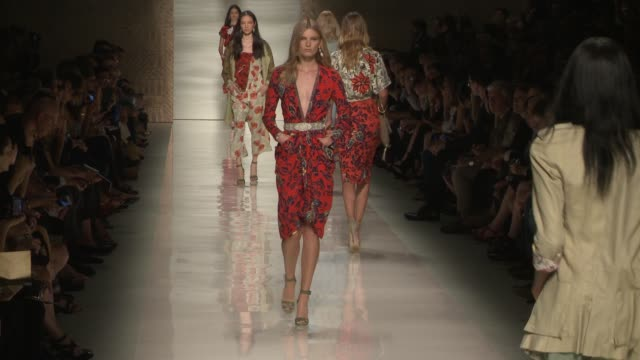 Models walk the runway at Etro Runway Milan Fashion Week Womenswear Spring/Summer 2014 Etro Runway Milan Fashion Week Womenswear Spring/Summer 2014...